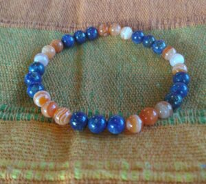 Bracelet d'Isis - Lapis-lazuli & Cornaline