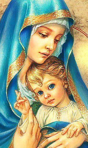 Marie à l'enfant Jésus