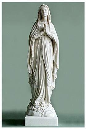 Statuette représentant Marie, en albâtre