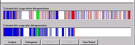 Défragmentation disque dur : avant/après