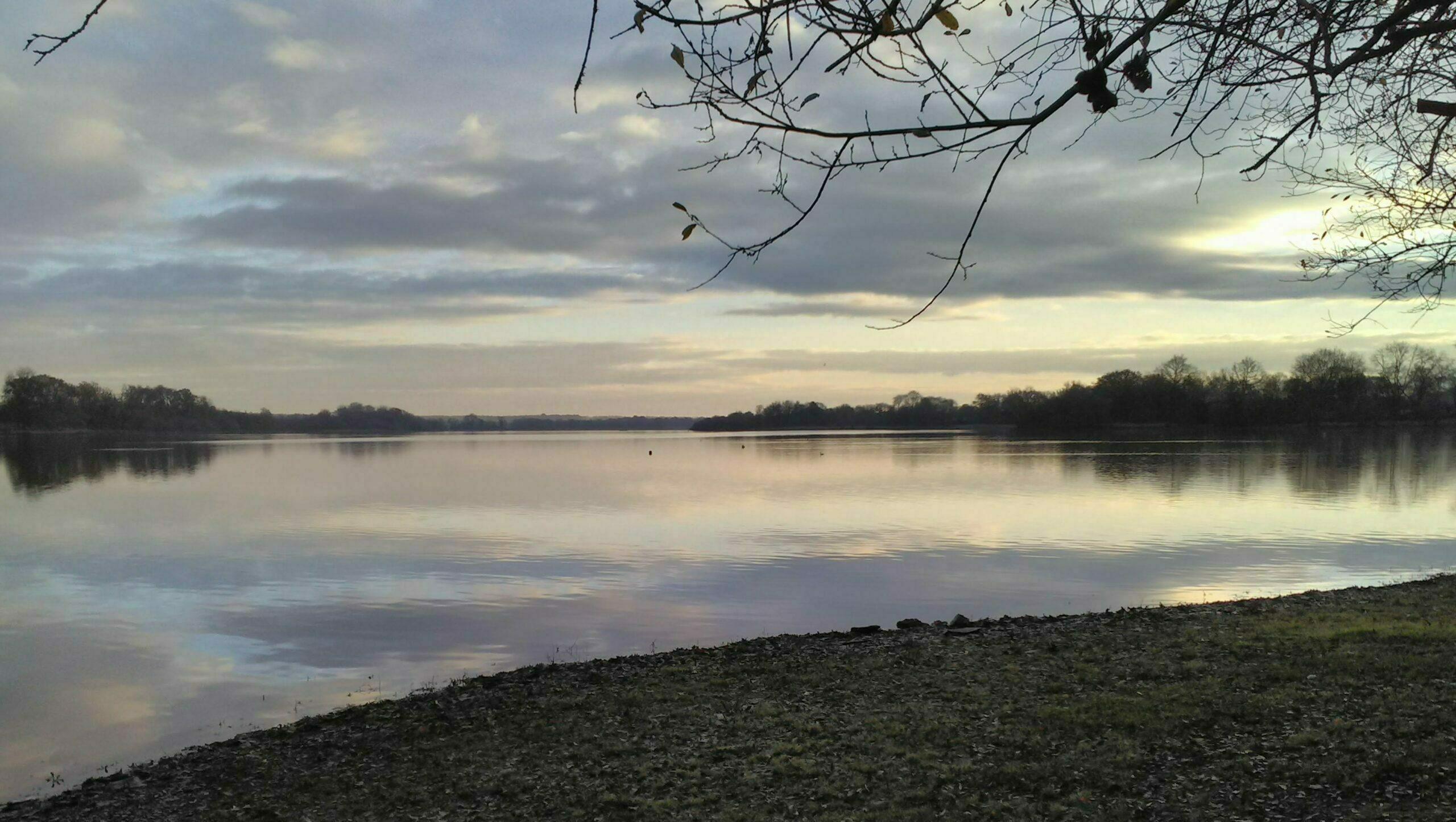 Lever de Soleil à l'étang de la Provostière, décembre 2020