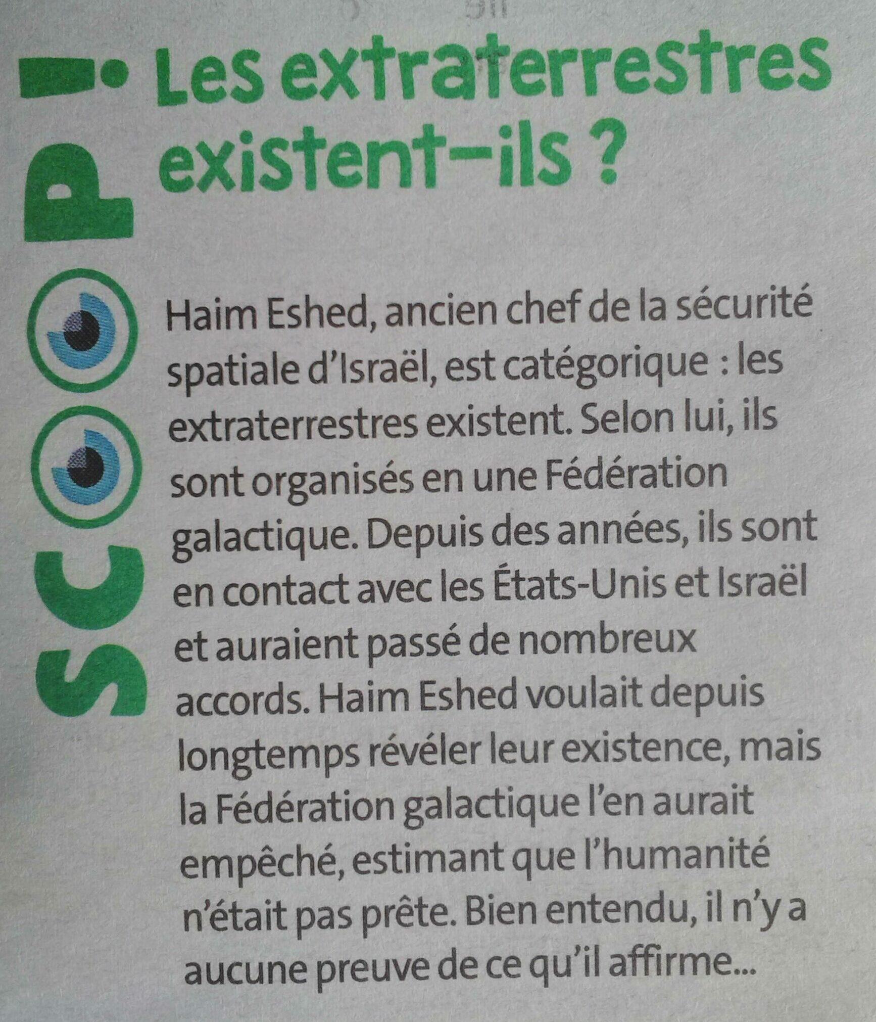 Article JDE du 07/01/2021 sur l'existence des E.T.