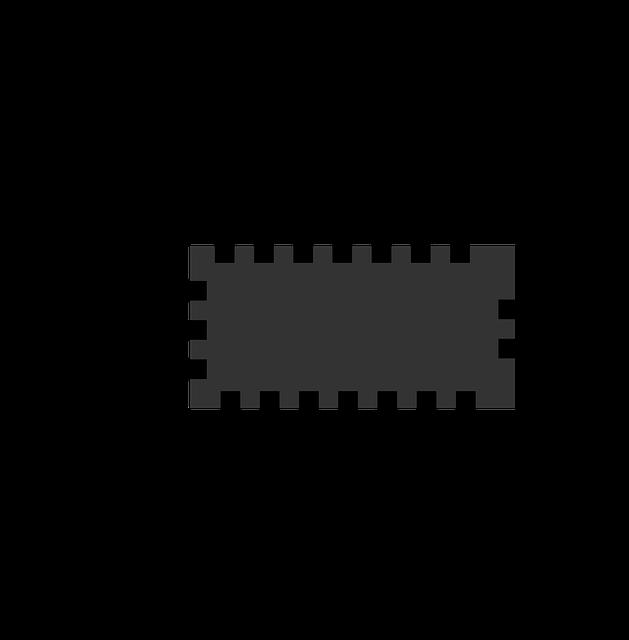 Une puce électronique : une illustration possible de l'implant négatif